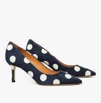 Tory Burch Dots Casual Style Suede Party Style Office Style