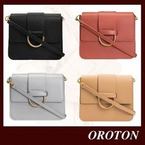OROTON Casual Style 3WAY Plain Leather Office Style Elegant Style
