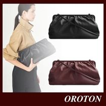 OROTON Plain Leather Party Style Elegant Style Crossbody