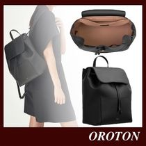 OROTON Casual Style Plain Leather Formal Style  Backpacks