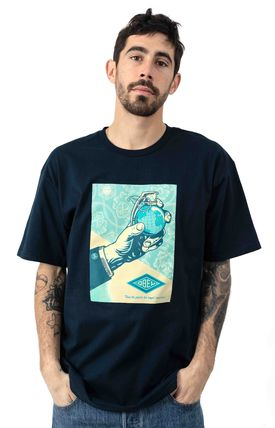 OBEY Short Sleeves Logo T-Shirts
