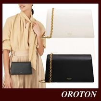 OROTON Casual Style 2WAY Plain Leather Party Style Elegant Style