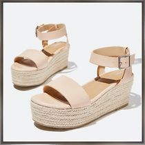 Cotton on Open Toe Platform Casual Style Plain