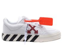 Off-White Leather Low-Top Sneakers