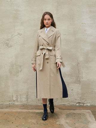 Casual Style Long Formal Style  Trench Coats