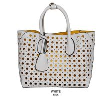 Dots Casual Style Faux Fur Bag in Bag 3WAY Plain Party Style