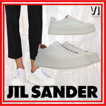 Jil Sander Rubber Sole Leather Low-Top Sneakers