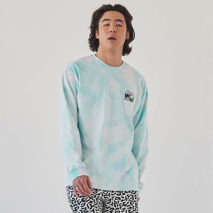 WKNDRS Long Sleeve Crew Neck Pullovers Unisex Street Style Tie-dye Long Sleeves 5