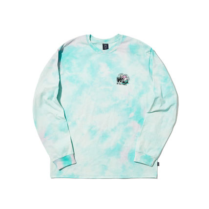 WKNDRS Long Sleeve Crew Neck Pullovers Unisex Street Style Tie-dye Long Sleeves 10