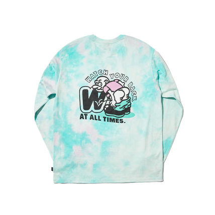 WKNDRS Long Sleeve Crew Neck Pullovers Unisex Street Style Tie-dye Long Sleeves 11