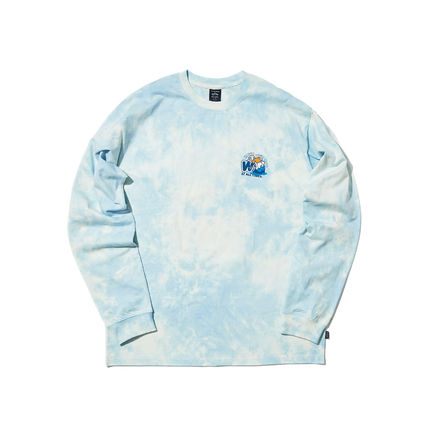 WKNDRS Long Sleeve Crew Neck Pullovers Unisex Street Style Tie-dye Long Sleeves 20