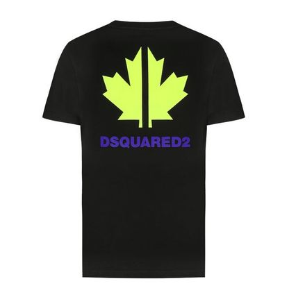 D SQUARED2 Long Sleeve Unisex Street Style Long Sleeves Cotton Short Sleeves 3