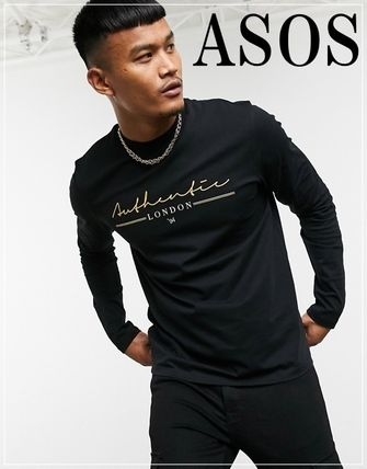 ASOS Long Sleeve Crew Neck Street Style Long Sleeves Cotton