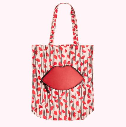 Stripes Heart Nylon Logo Shoppers
