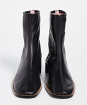 Ance Studios Square Toe Leather Logo Ankle & Booties Boots