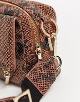 WHISTLES Casual Style Leather Python Crossbody Shoulder Bags
