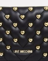 Love Moschino Casual Style Faux Fur Studded Crossbody Shoulder Bags