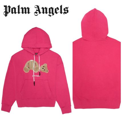 Palm Angels Hoodies Pullovers Street Style Long Sleeves Cotton Graphic Prints