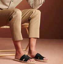 HERMES Plain Leather Loafers & Slip-ons