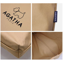 Agatha Casual Style Unisex Office Style Totes