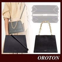 OROTON 2WAY Plain Leather Party Style Elegant Style Crossbody
