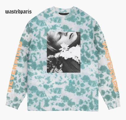 Street Style Tie-dye Long Sleeves Long Sleeve T-shirt Logo