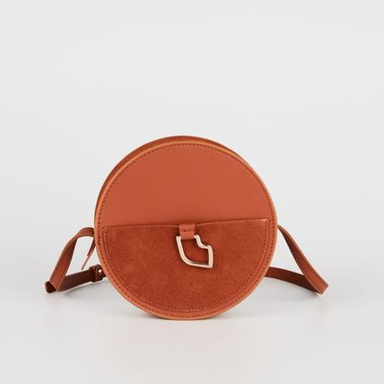 Casual Style Plain Leather Crossbody Shoulder Bags