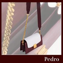 Pedro Plain Party Style Elegant Style Formal Style  Shoulder Bags