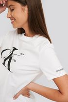 Calvin Klein Crew Neck Cotton Short Sleeves Logo T-Shirt Logo T-Shirts
