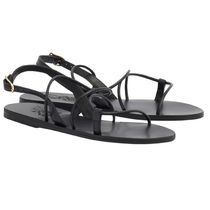 ANCIENT GREEK SANDALS Open Toe Casual Style Plain Leather Elegant Style