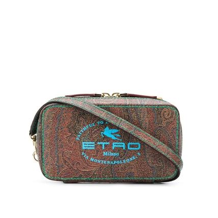 Paisley Leather PVC Clothing Logo Messenger & Shoulder Bags