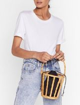 NASTY GAL Casual Style Street Style Plain Purses Bucket Bags