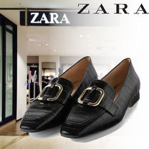 ZARA Square Toe Other Animal Patterns Loafer & Moccasin Shoes