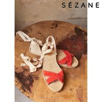 SEZANE Platform Plain Toe Casual Style Plain Footbed Sandals