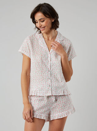 Flower Patterns Cotton Co-ord Loungewear Lounge & Sleepwear