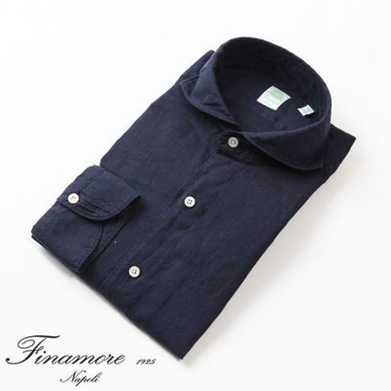 Linen Long Sleeves Plain Shirts