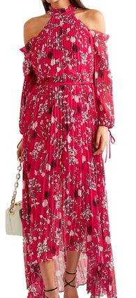 Flower Patterns Maxi Cropped Long Sleeves Long Dresses