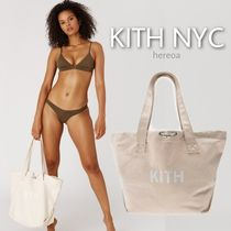 KITH NYC Unisex Canvas Street Style Logo Totes
