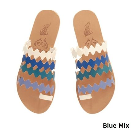 Open Toe Casual Style Plain Leather Party Style Tribal