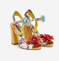 Dolce & Gabbana Flower Patterns Tropical Patterns Open Toe Casual Style