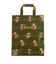 Harrods Casual Style Unisex A4 PVC Clothing Logo Totes