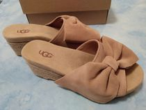 UGG Australia Open Toe Casual Style Suede Blended Fabrics Plain