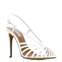 TABITHA SIMMONS Open Toe Leather Pin Heels Strap Sandals Heeled Sandals