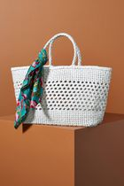Anthropologie Leather Straw Bags