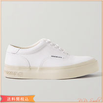 Alexander Wang Rubber Sole Unisex Street Style Leather Logo