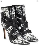BALMAIN Casual Style Enamel Bi-color Leather Pin Heels Party Style
