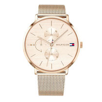 Tommy Hilfiger Round Party Style Quartz Watches Stainless Office Style