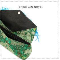 Dries Van Noten Suede Blended Fabrics Party Style With Jewels Elegant Style
