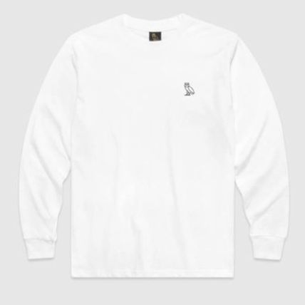 OCTOBERS VERY OWN Long Sleeve Crew Neck Unisex Street Style Long Sleeves Plain Cotton 2