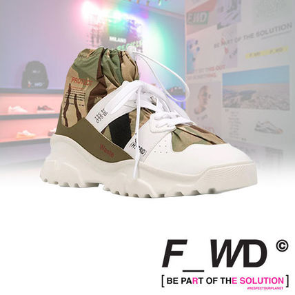 F_WD Sneakers Camouflage Street Style Leather Logo Sneakers